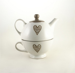 brandani teiera con tazza batticuore articoli da regalo