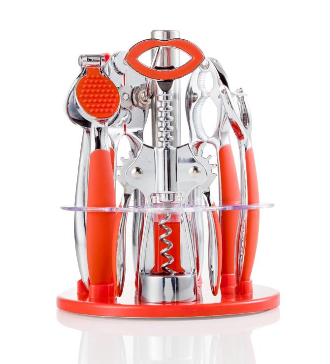 Brandani set utensili cucina milleusi rosso tavola e for Set utensili da cucina