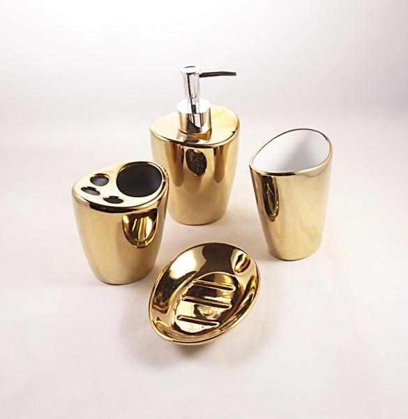 Il rustico set bagno oro complementi d 39 arredo set for Bagno d oro